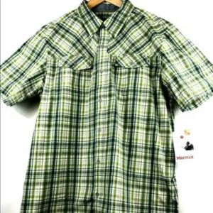 Marmot Riggs S/S Plaid Shirt, Sun Protection